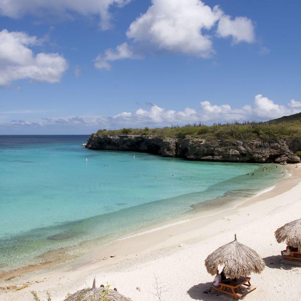sky water Nature Beach shore Sea Coast Ocean cove caribbean cape islet sand Island tropics Lagoon overlooking sandy