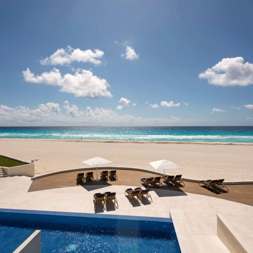 sky water Beach Sea Ocean Nature shore swimming pool caribbean horizon Coast Lagoon cape Island sand Resort blue sandy day