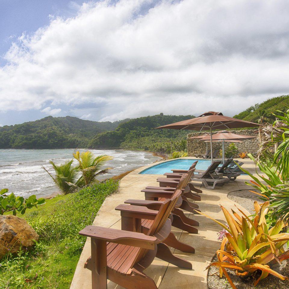 sky Beach shore Coast Sea Ocean Nature caribbean arecales landscape tropics Resort plant Island