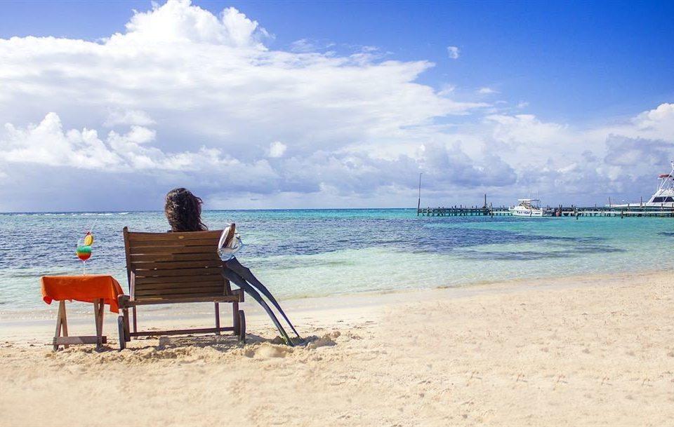 sky water ground Beach shore Sea Ocean horizon Coast caribbean sand Nature vehicle cape Island wave