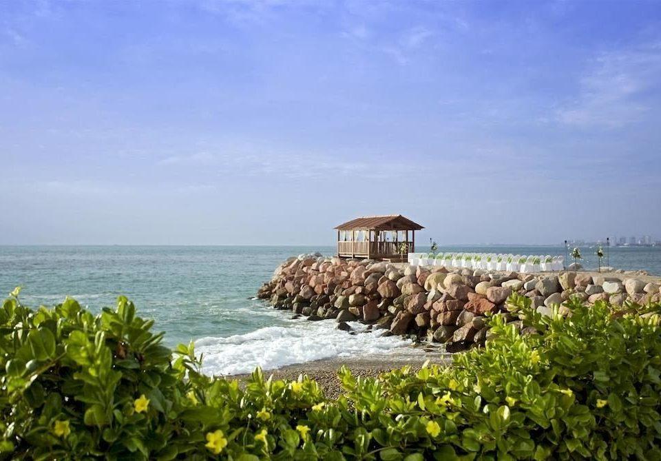 sky water shore Coast Sea Beach Ocean horizon Nature Resort Island caribbean cape cove islet overlooking stone