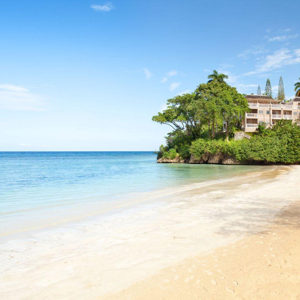 sky water Beach shore Sea Nature Coast Ocean caribbean sand cape Island cove tropics sandy