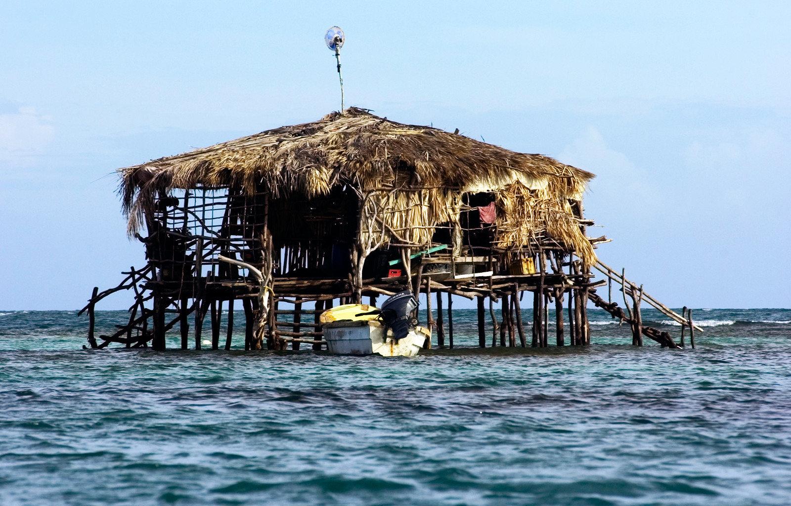 sky water Beach Sea Coast Ocean hut vehicle Island Resort day