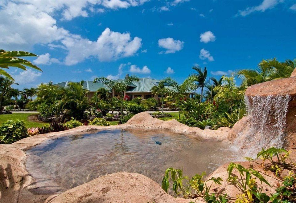 Play Pool Resort Waterfall sky rock Nature Sea canyon Coast Jungle Beach park tropics stone