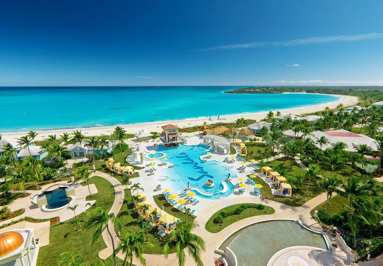 sky water Nature Ocean leisure Resort caribbean Beach lawn Sea shore Coast cape Water park swimming pool Lagoon reef marina lined