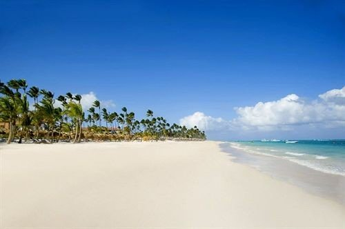 sky habitat Beach Nature shore natural environment horizon Sea Ocean Coast sand caribbean Lagoon sandy