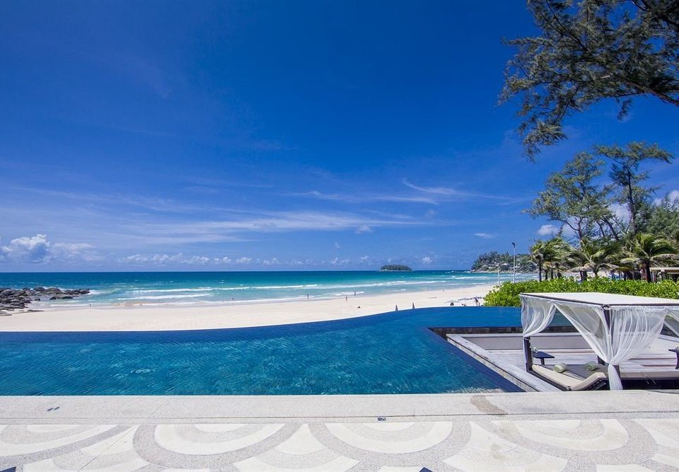 sky water swimming pool Beach shore Sea Ocean caribbean Nature Resort Coast Lagoon empty day sandy