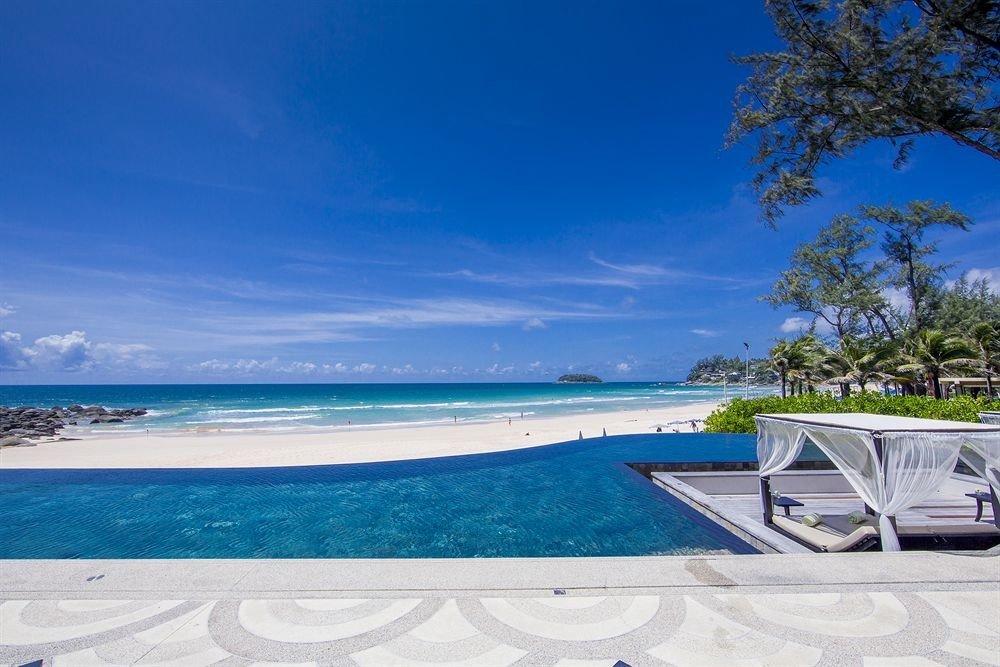 sky water swimming pool Beach shore Sea Ocean caribbean Nature Resort Coast Lagoon empty day sandy