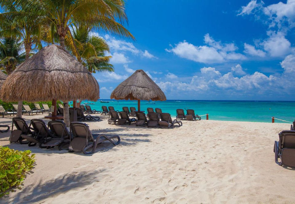 sky ground Beach chair leisure caribbean Resort Sea Ocean Coast Lagoon sand shore day shade sandy