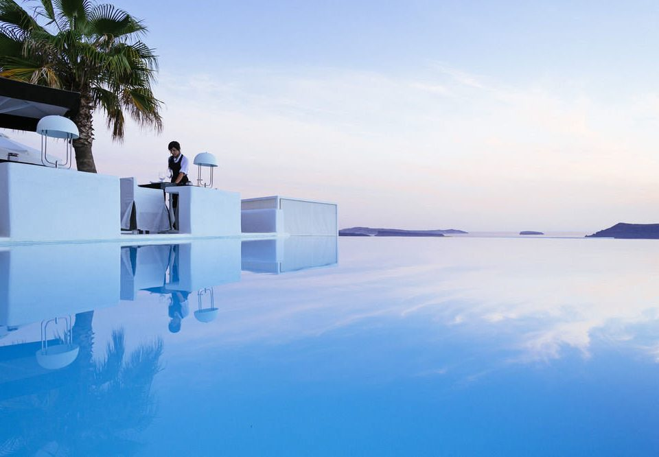 sky blue water Sea Ocean horizon atmosphere of earth Winter ice morning Lake Beach Coast swimming pool wave dock