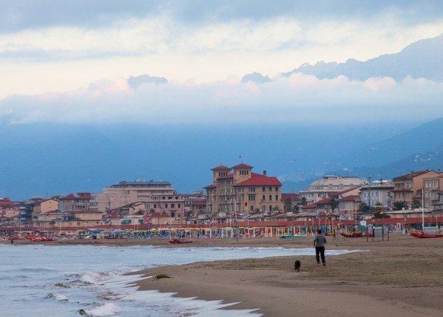 sky Sea Beach Coast shore horizon Town Nature Ocean panorama cityscape day sandy