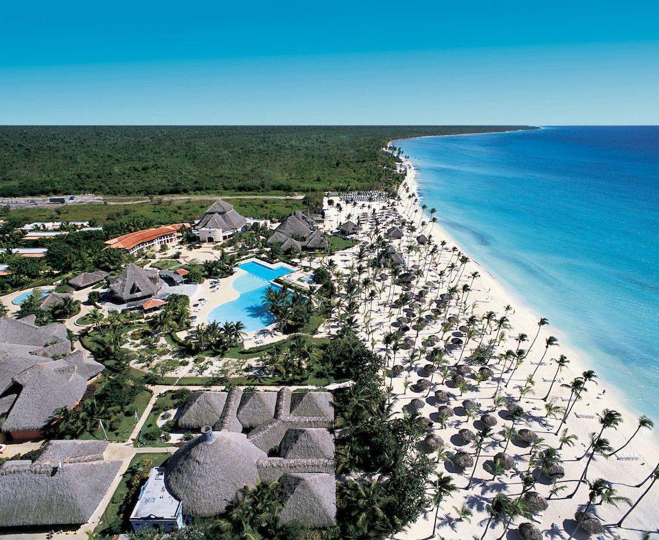 sky water Coast Nature Sea shore Beach Ocean aerial photography rock cape caribbean cove terrain Resort overlooking