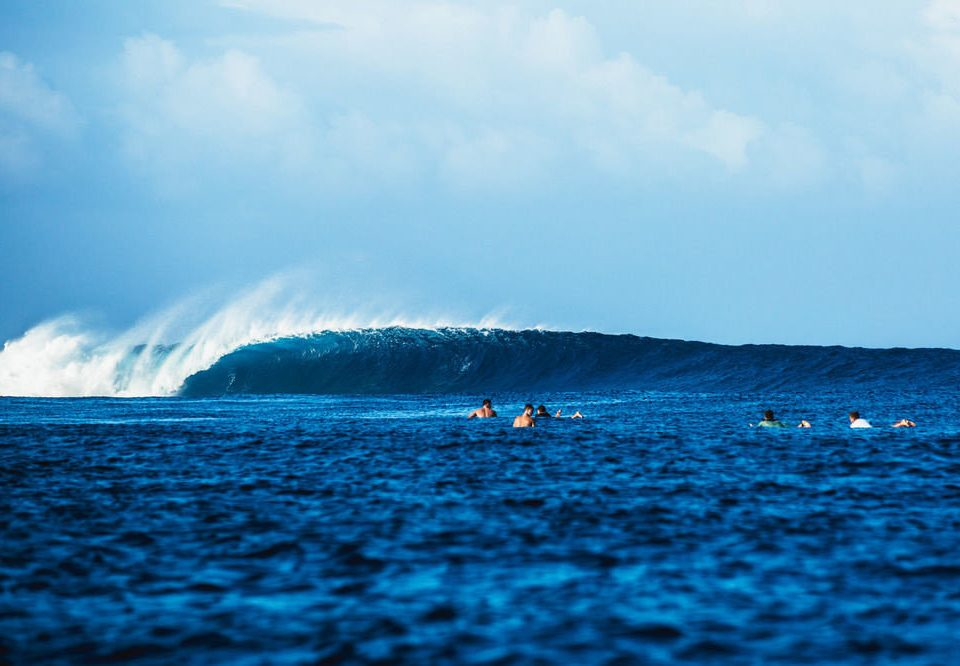 sky water Sea Ocean wave wind wave shore horizon Coast cloud Beach Nature water sport blue surfing sand day distance