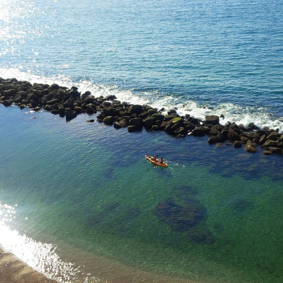 water shore Nature Sea Coast Beach horizon Ocean wave cliff cape terrain cove islet reservoir lined line