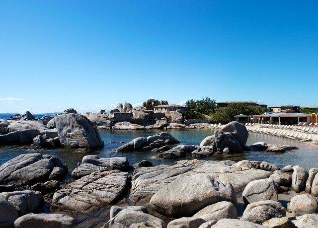 rock sky Nature shore rocky Coast Sea Beach Ocean cove breakwater cape pile stone