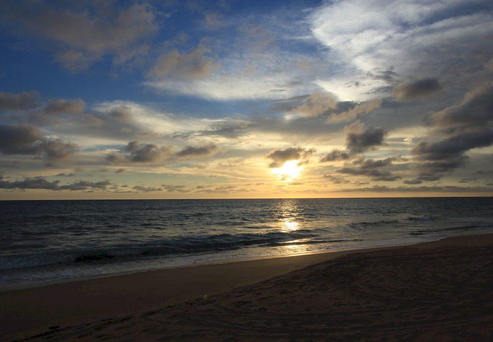 sky Beach water Sunset Sea shore cloud Ocean horizon Coast Nature sunrise wave dawn morning wind wave clouds sand dusk evening sunlight afterglow Sun cloudy sandy