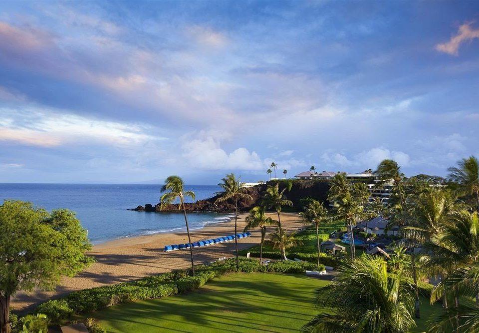 sky grass Sea Coast shore Beach cloud Ocean Resort Nature landscape arecales caribbean cape tropics plant lush
