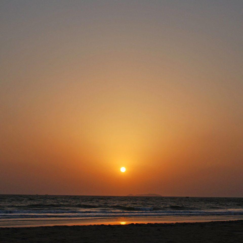 Ocean Sunset sky water horizon Beach Sea sunrise shore afterglow dawn Coast morning Nature wave dusk wind wave evening sunlight Sun distance