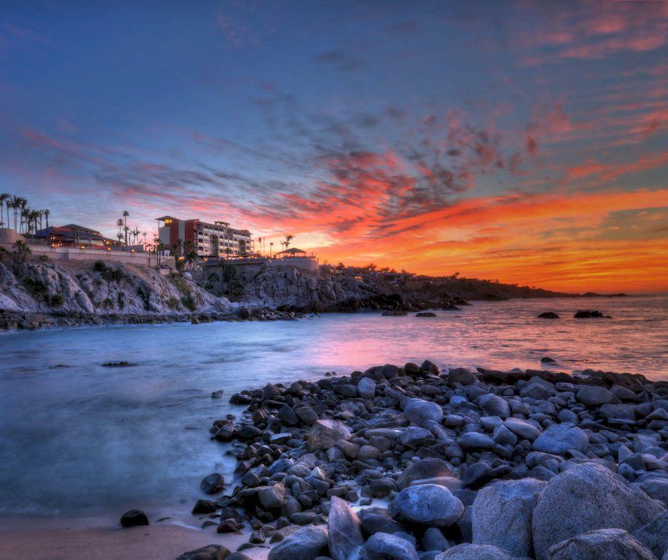 water sky shore Coast Sea Sunset Beach Ocean sunrise rock cloud horizon dawn Nature wave dusk evening wind wave morning cove