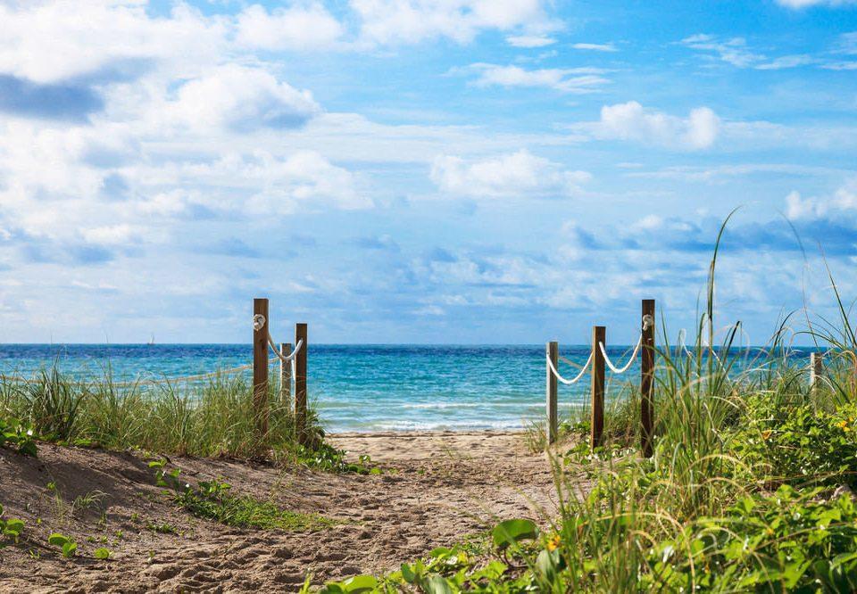 sky water habitat shore Sea Beach Ocean horizon Coast Nature cloud grass landscape overlooking sandy day
