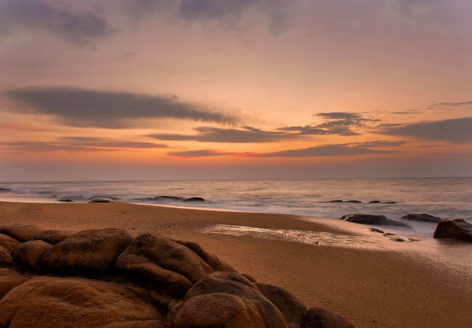 sky Nature Beach shore Sea Coast Ocean Sunset horizon sunrise cloud wave sand dawn wind wave morning rock dusk evening cape afterglow sunlight material clouds