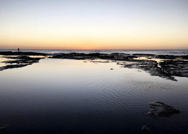 water sky horizon Nature Sea calm shore Beach water resources Ocean Sunset dawn sunrise morning wetland Coast dusk mudflat evening estuary River inlet tide