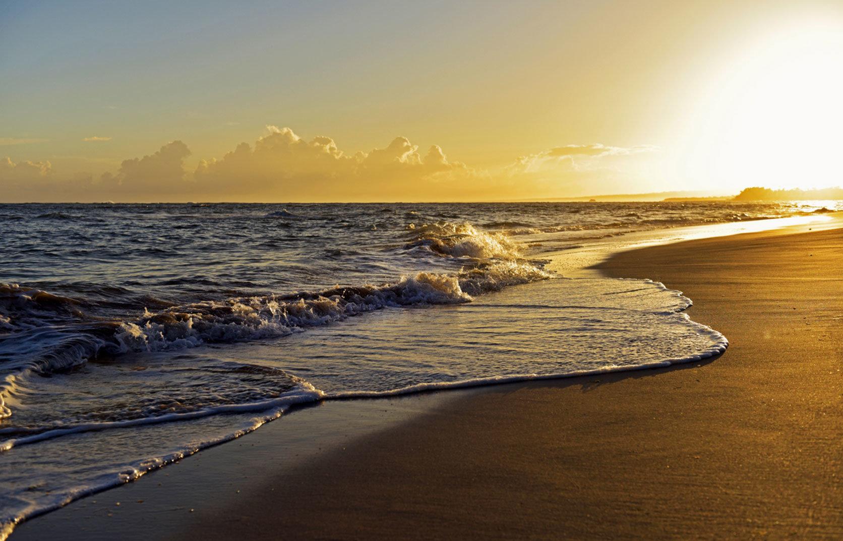 sky water shore Sea Coast Beach horizon Ocean wave sunrise Sunset dawn wind wave Nature morning cloud dusk evening sand rock sunlight