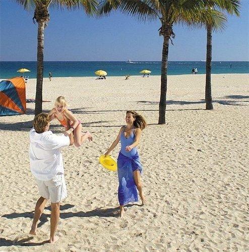 Beach sky ground tree water leisure shore Sea Nature Coast caribbean palm sand sandy Playground