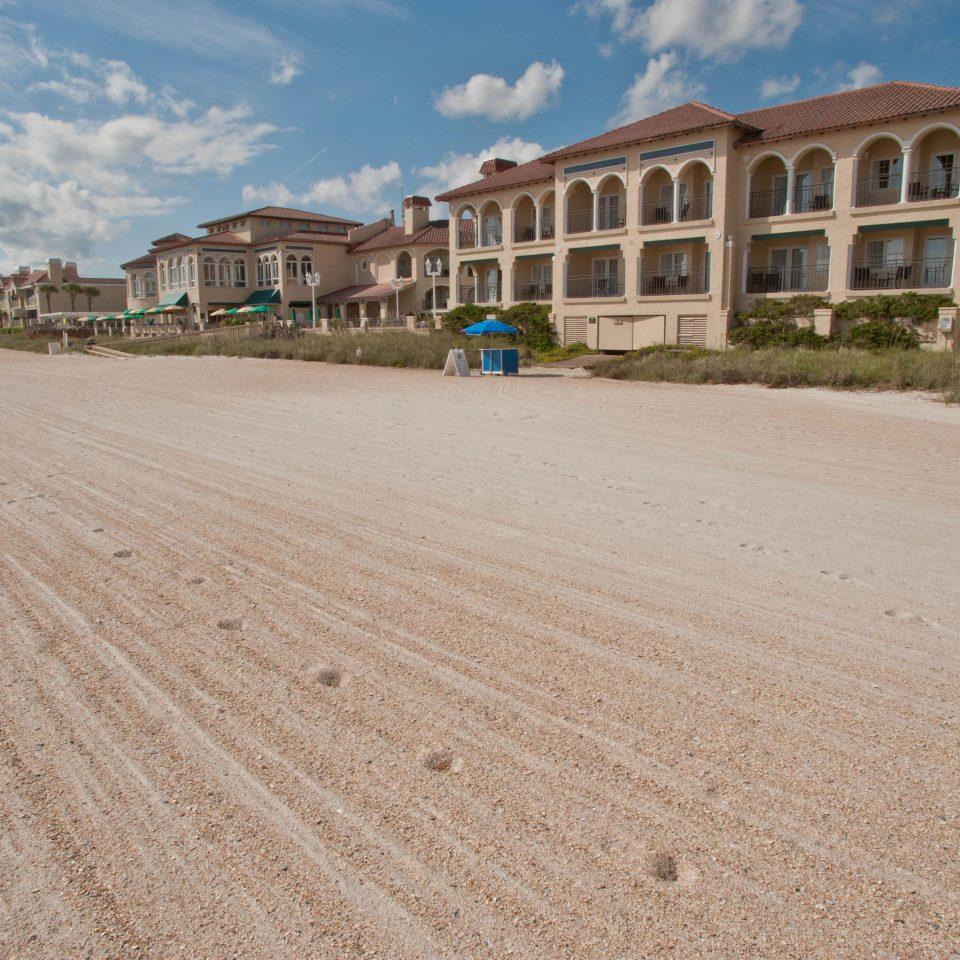 sky ground Beach walkway boardwalk Coast Sea sand Nature shore sandy