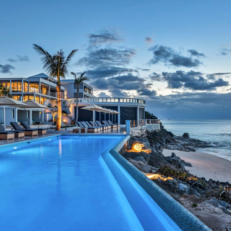 sky water Sea Ocean Coast Beach Resort shore scene caribbean swimming pool marina
