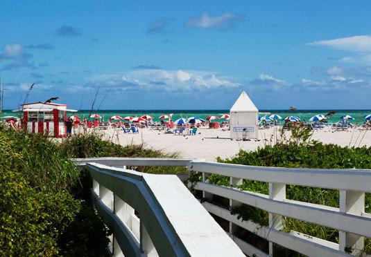 sky Beach walkway Sea Coast Resort Ocean boardwalk caribbean railing day