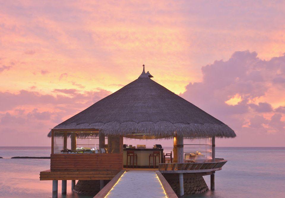 water sky Sunset Sea Beach Ocean sunrise horizon evening morning shore wooden Coast dusk dawn Resort