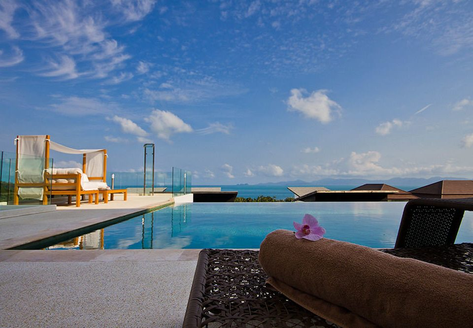 sky water Sea swimming pool Ocean Beach horizon shore Coast Resort overlooking day