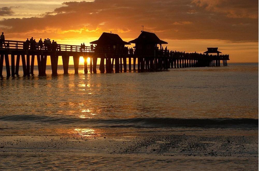 Beach Sunset sky water scene pier ground Sea sunrise horizon dawn Coast Ocean dusk evening morning shore River afterglow wave setting