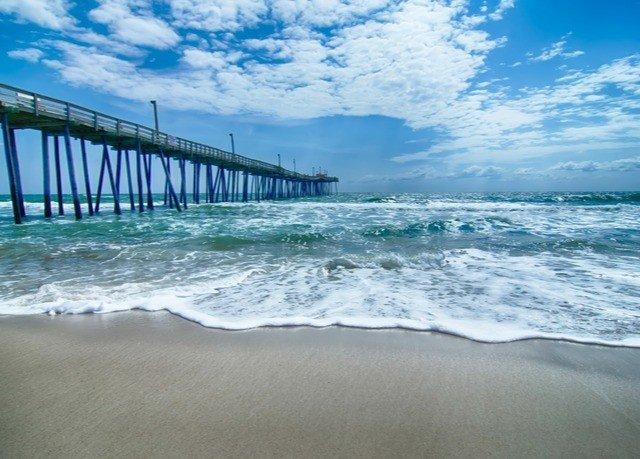 scene shore Sea Ocean pier Beach horizon Coast wave wind wave sand day sandy