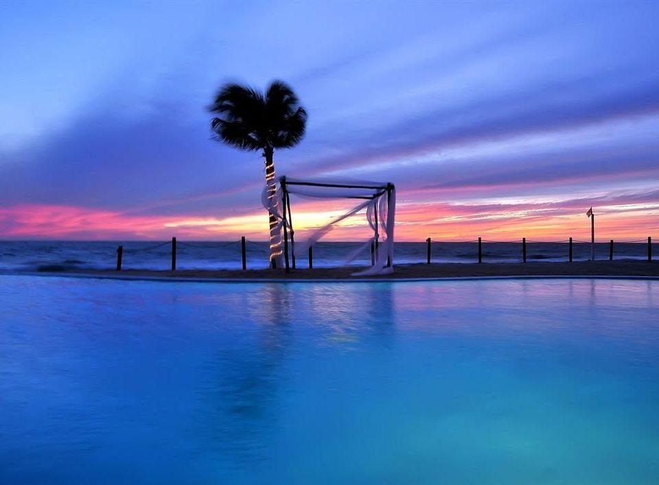 sky scene pier horizon Sea Ocean dusk Beach evening Sunset dawn Coast sunrise wave