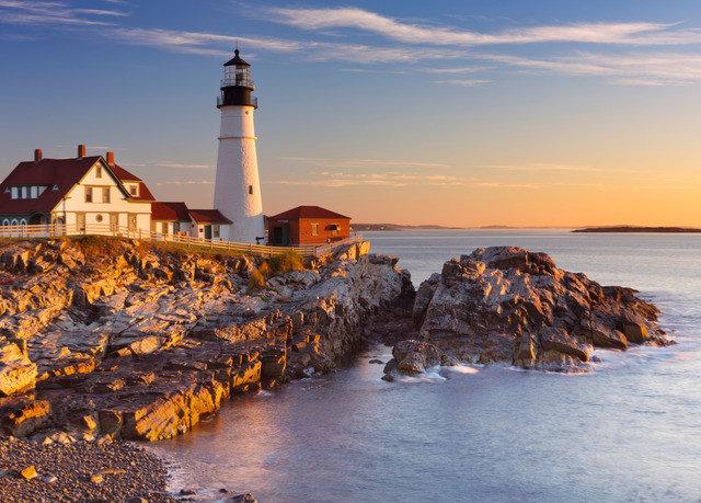 sky water lighthouse tower shore Coast Sea Ocean Sunset evening Beach rock dusk cape wave sunrise dawn breakwater cove