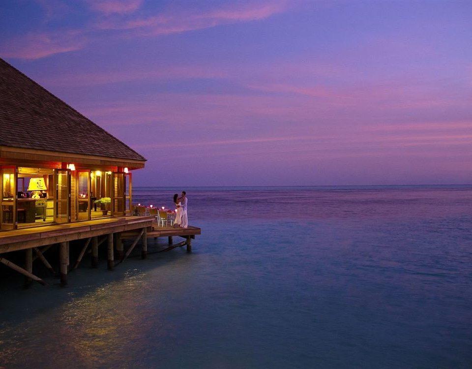 water sky pier scene Sea Ocean horizon Beach Sunset Coast shore evening dusk morning sunrise dawn cape