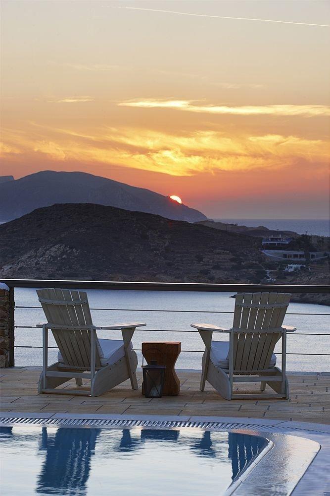sky mountain Sea Ocean overlooking Sunset shore horizon morning Coast Beach evening sunrise dusk dawn sunlight