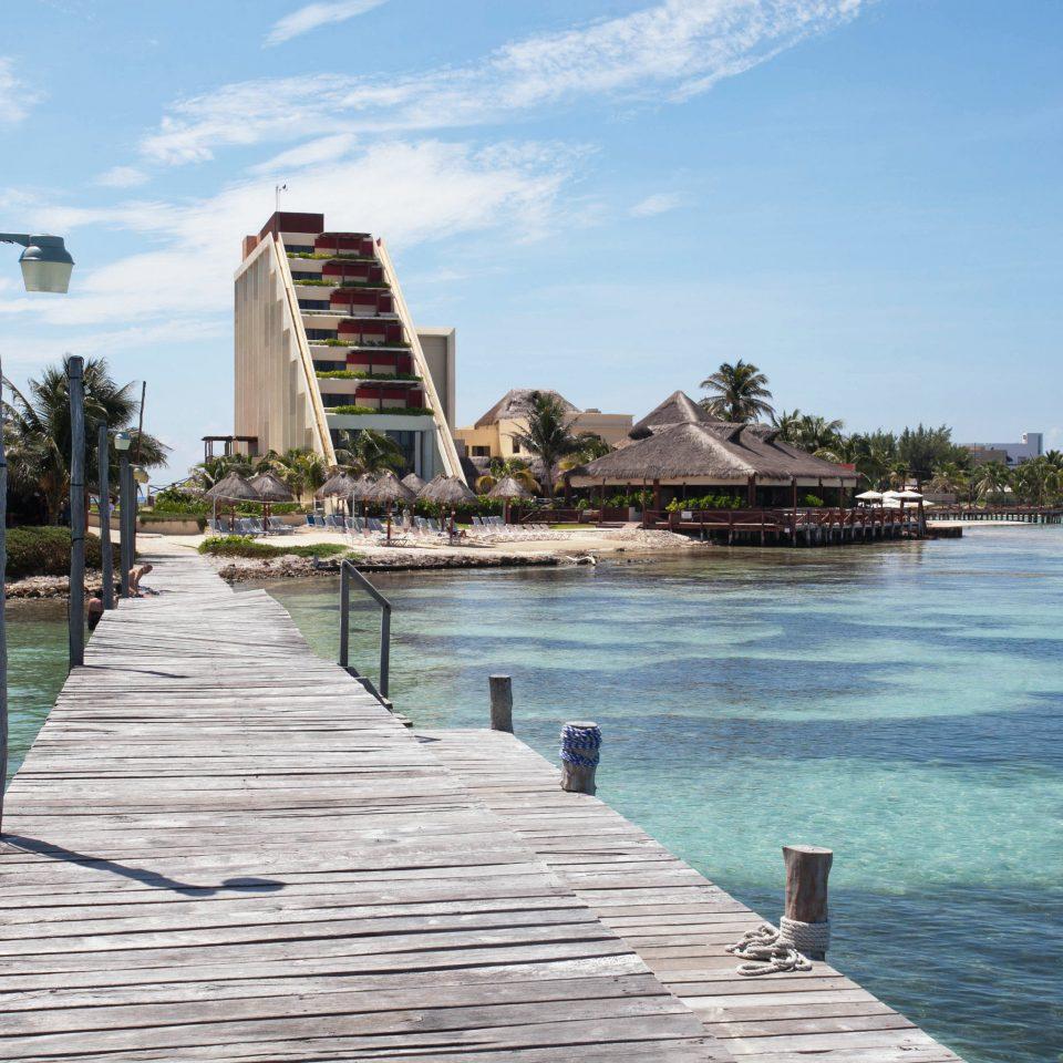 water sky walkway shore Sea Beach Coast boardwalk dock pier Resort waterway cove overlooking surrounded