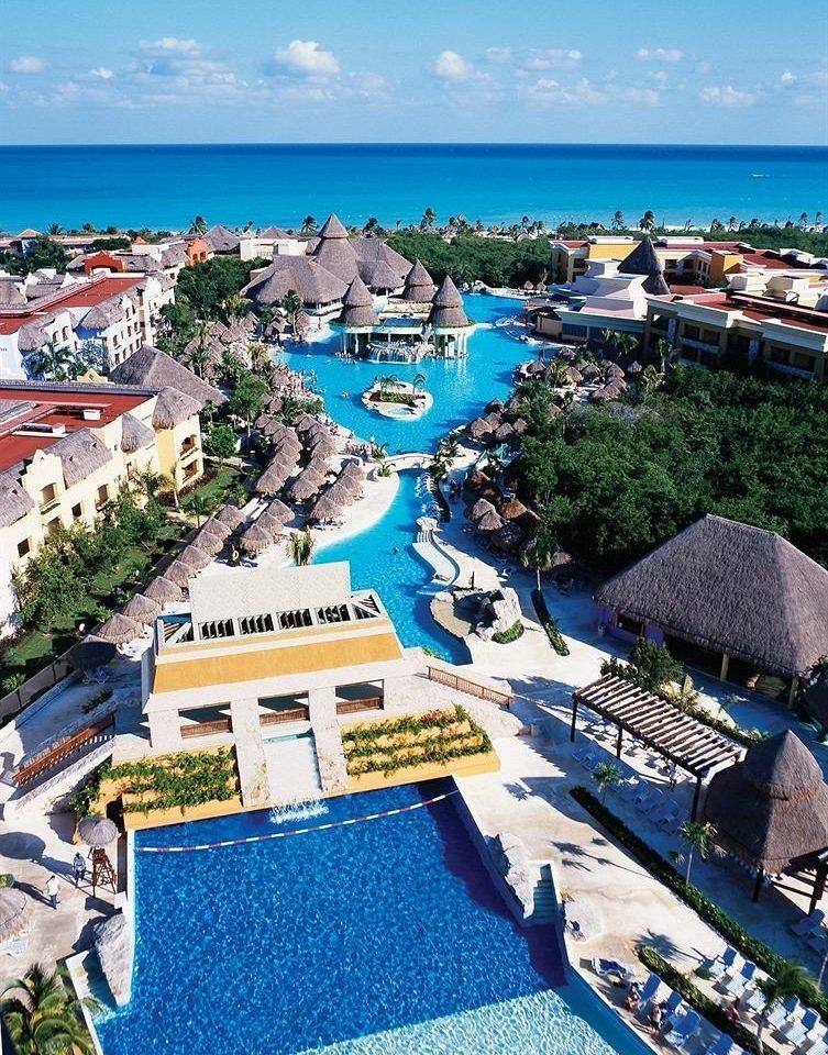 sky marina Coast dock Resort Sea Beach aerial photography caribbean shore cape port lined colorful