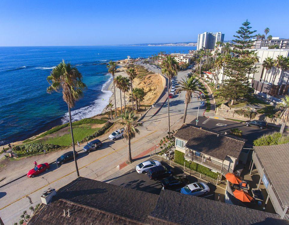 sky Coast Sea aerial photography walkway cape Beach Resort marina lined shore