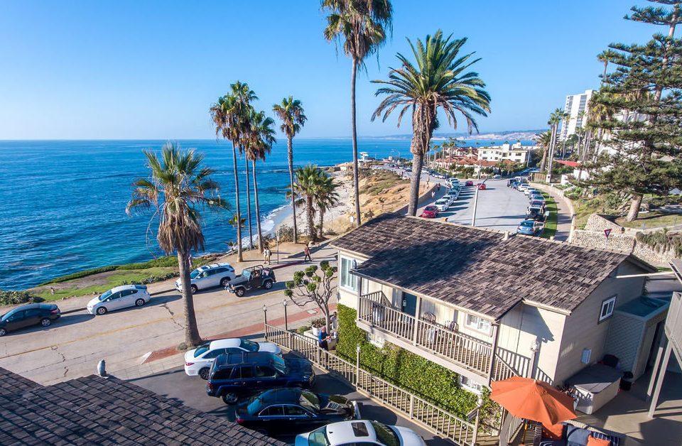 sky Beach Resort Sea Coast cape palm lined shore shade