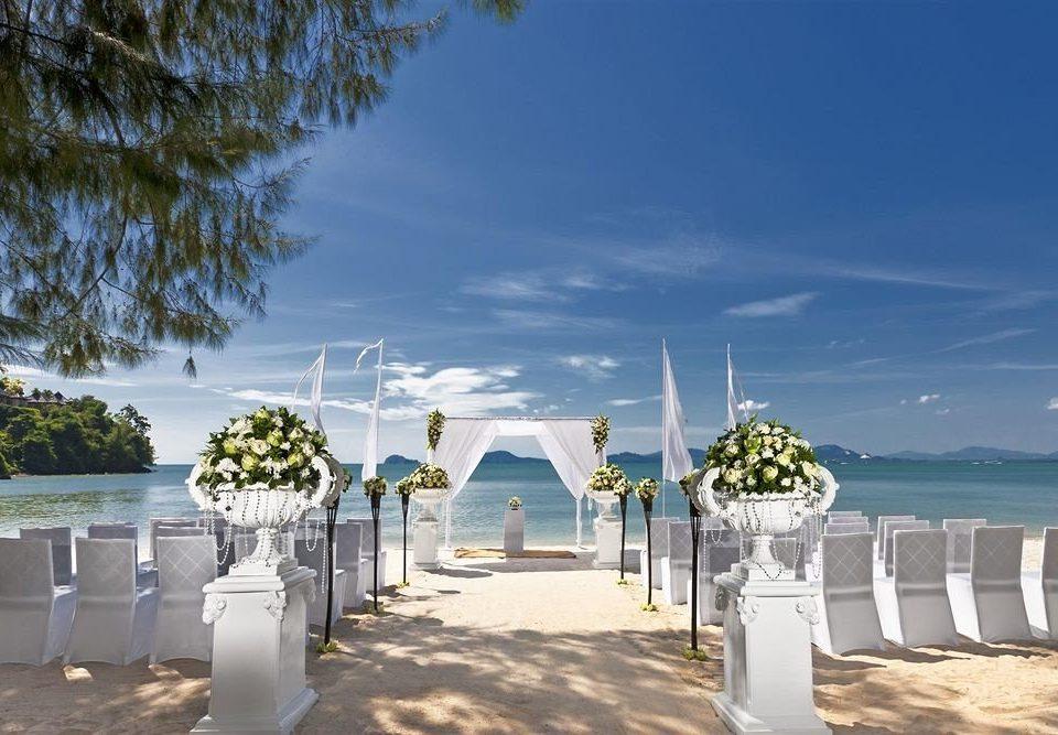 sky Beach Sea Resort walkway Coast shore lined sandy