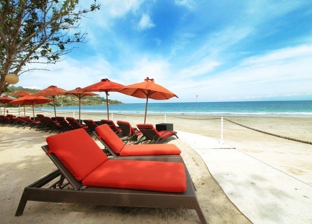 sky leisure chair Beach red swimming pool Resort Sea Coast caribbean Villa shore shade sandy