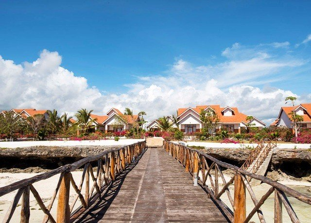 sky ground scene leisure Resort Coast Beach Sea wooden walkway railing
