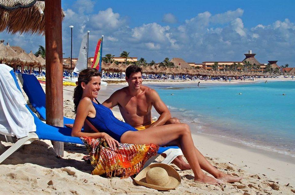 sky Beach ground sun tanning Sea sand Coast caribbean shore sandy