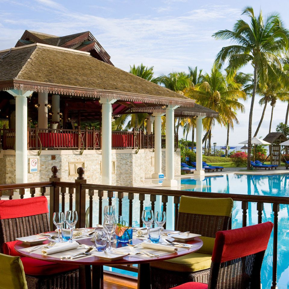 Beach Dining Family Grounds Modern chair leisure Resort restaurant caribbean Villa cottage porch Deck