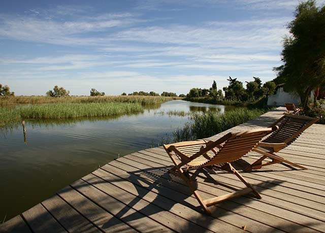 water sky shore River Lake park wooden Beach Sea overlooking lined Deck line