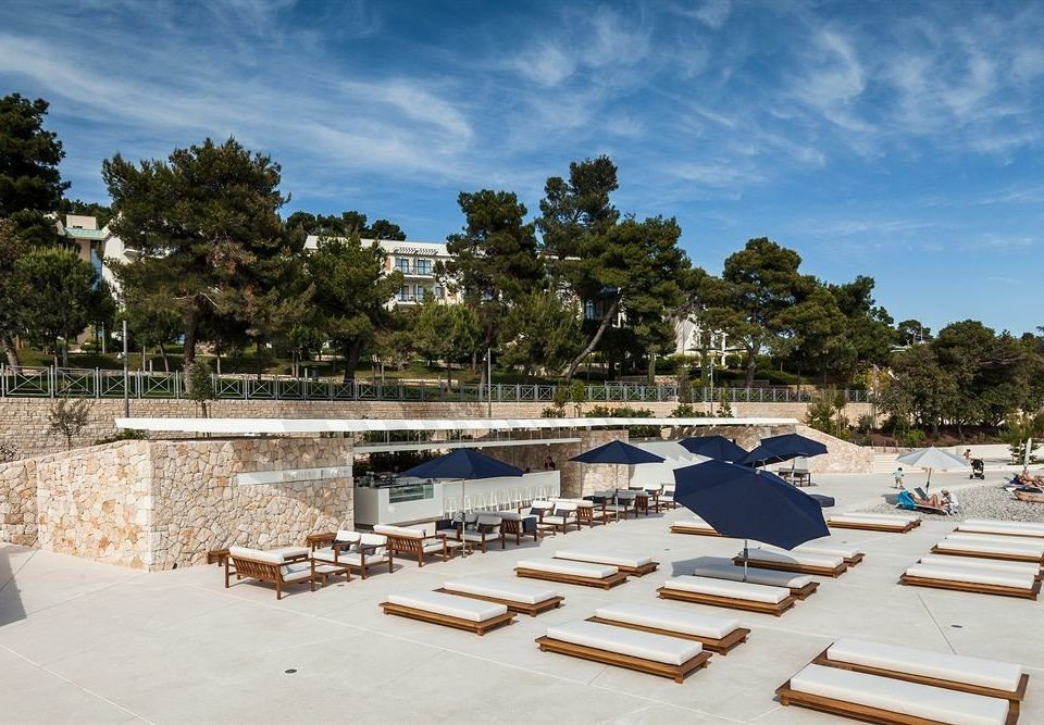 sky tree chair swimming pool Beach dock Resort Sea marina Villa roof Deck day